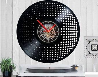 Vinyl clock,Dots, steps, circles, disco, wheel designs, Dj clock, Gift for DJ, Home Decor, handmade