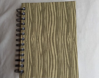 Wood Lines Fabric Notebook
