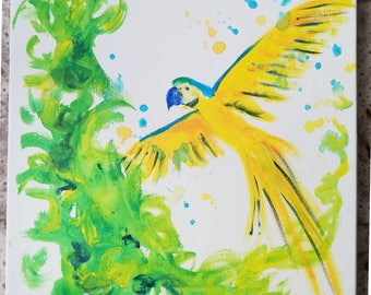 """Painting """"Freedom"""" Parrot Ara"""