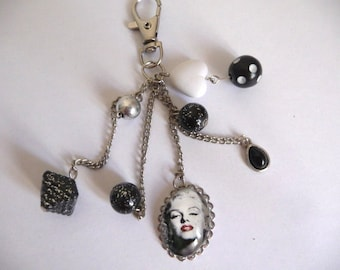 Marilyn keychain or bag charm