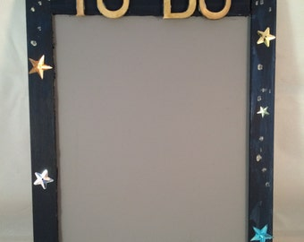 To-Do List/Message Chalkboard, DIY Wood Painting Kit, Magnetic Chalkboard, DIY Kids Kit, Chalkboard with Frame, Fathers Day Message