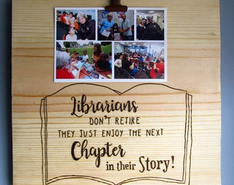 Librarian Photo Board, Librarian Retirement Gift, Librarian picture frame, Librarian Gift, Librarian Thank You, Public Library Photo Board