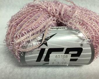 Ice Yarn Twin Ringlets Pinkish 50g