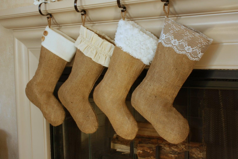 Charming Burlap Stockings Part - 11: ?zoom