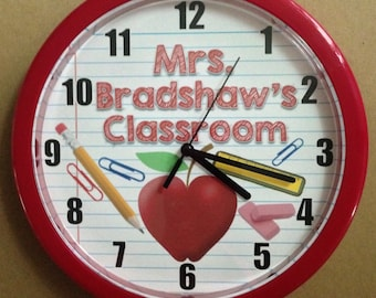 Personalized Wall Clocks Perfect for TEACHERS & CLASSROOMS