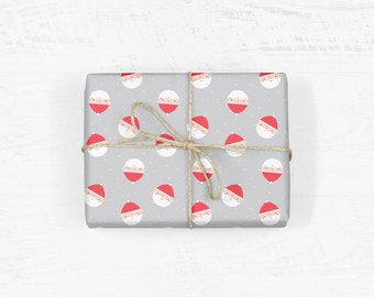 Father Christmas Wrapping Paper - double sided