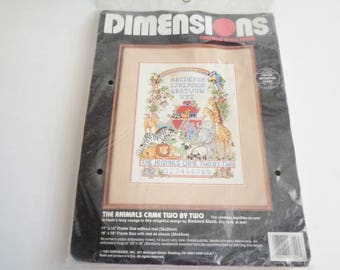 Dimensions Counted Cross Stitch Kit - The Animals Came Two By Two  - Unopened Kit