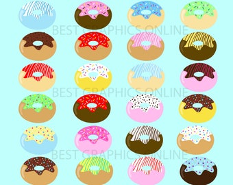 80% OFF SALE Commercial use Desert Food clipart Donuts clipart illustration Sweet Doughnut vector Donut clip art Donuts clipart graphic KG7