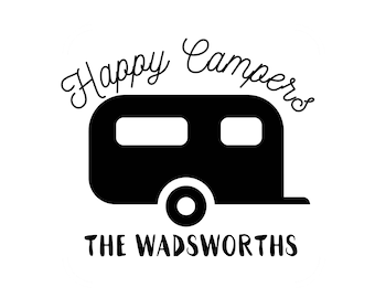 Happy Camper Decal - Camping Decal - Happy Camper Sticker - Camping Sticker - Happy Camper - Happy Camper Vinyl Decal - Camping Wall Decal