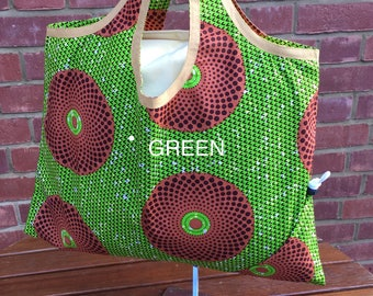 African Print Shopping Tote Bag