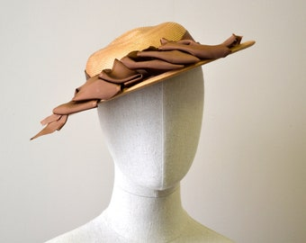 1940s Winner Straw Hat with Bows
