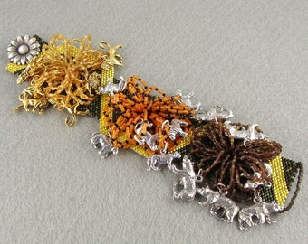 The Forest of Oz beaded charm bracelet