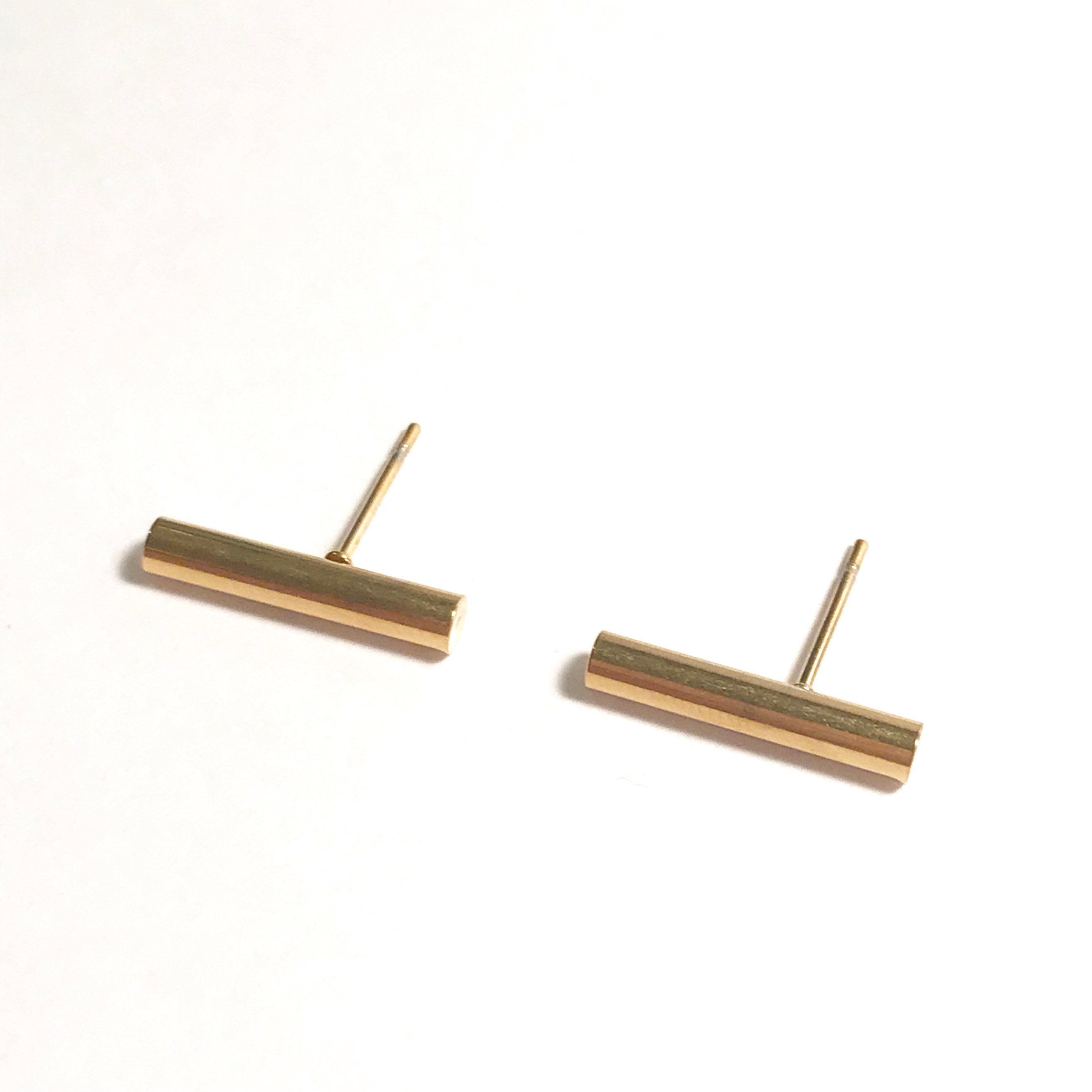 il for gold earrings line bar fullxfull unisex listing minimalist gift stud staple her solid