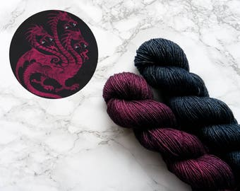Hand dyed yarn, wool yarn, merino wool yarn, best selling items, knit gift for mom, knitting game of thrones gift, PREORDER - Targaryen
