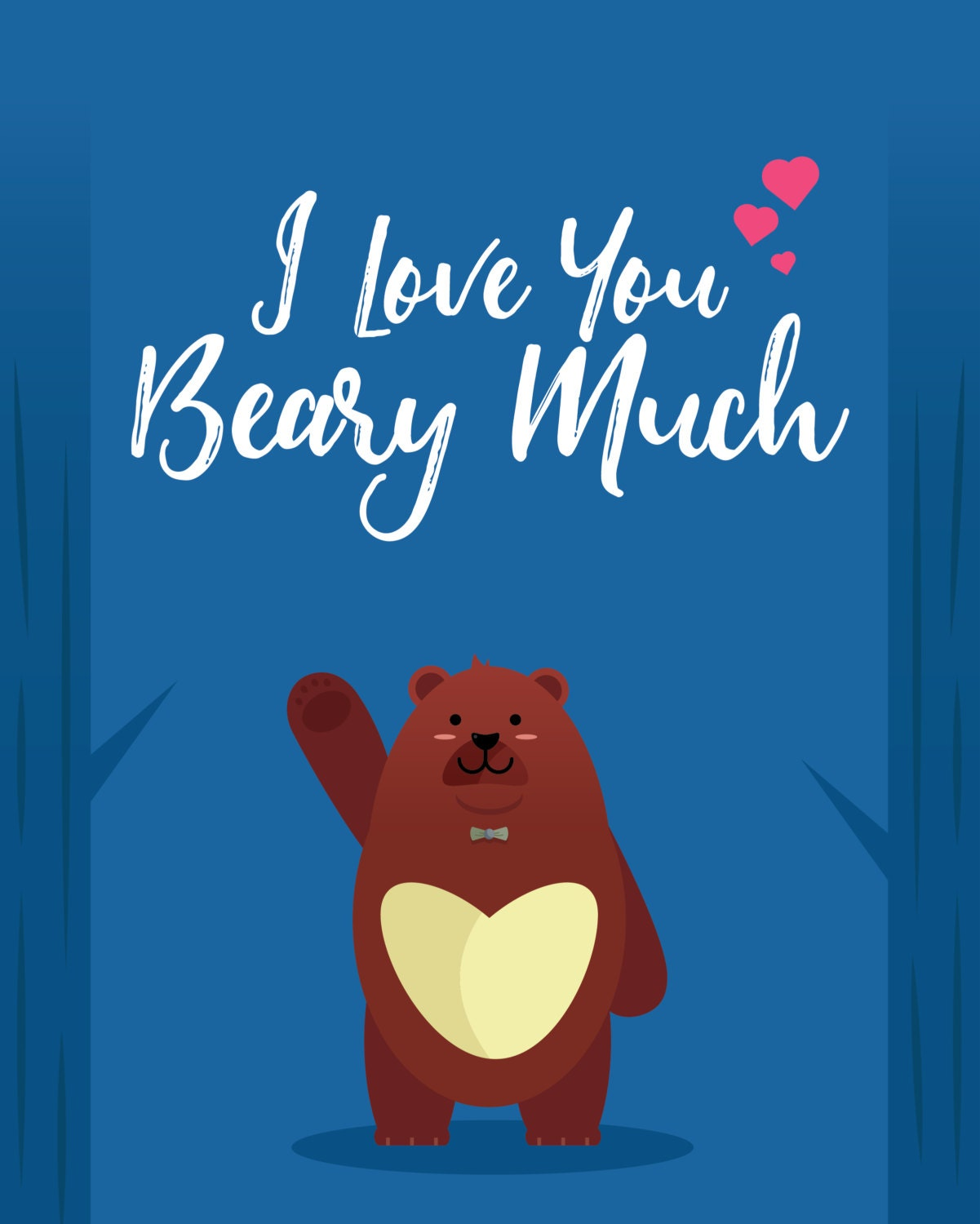 I Love You Beary Much Downloadable Greeting Cards