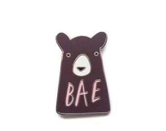 Bae Bear Enamel Pin