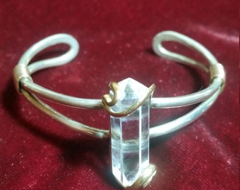 Stunning Vintage Silver and Quartz Crystal Bracelet