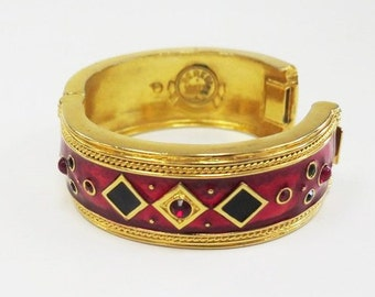 Vintage Berebi Limited Edition Couture Enamel Hinged Bangle