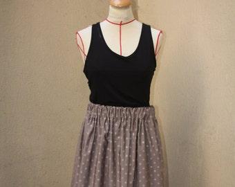 skirt with elasticated waistband elastic Lycra