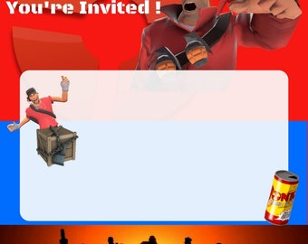 TF2 Fillable Party Invites