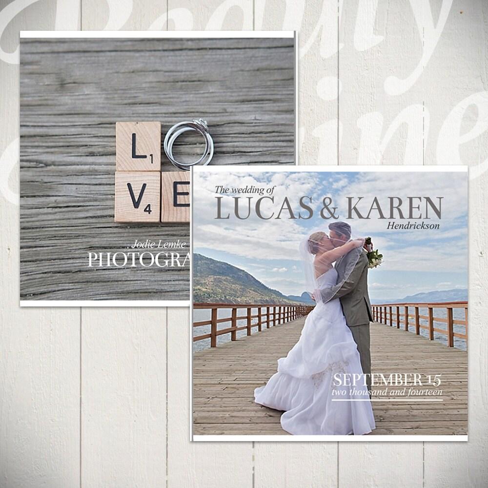 Hochzeit Album Vorlage: Forever 10 x 10 Hochzeit Buch