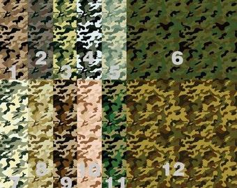 Pattern Vinyl, Military Army Camo, HTV, Adhesive, Outdoor 651 Vinyl, Heat Transfer Vinyl, Iron On Vinyl. Decals HTV. Military