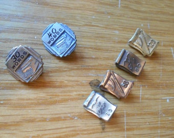 Vintage - Typerwriter / Shorthand Lapel Pins