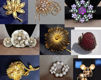 Vintage Monet Brooches, Richileu Brooch, Avon Brooches