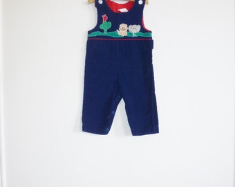 Vintage Navy Jungle Overalls