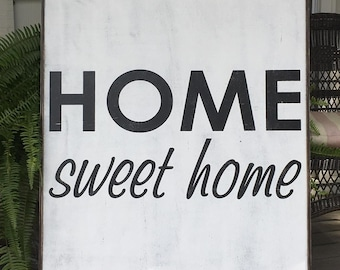 Home sweet home sign, Fixer Upper Inspired Signs,34.5x40.5, Rustic Wood Signs, Farmhouse Signs, Wall Décor,large home sweet home sign