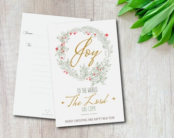 Christmas Postcards Set | Set of 5 Cards | Blank Card | Stationary | Premium postcards | Drawing | holiday cards| gift under 20