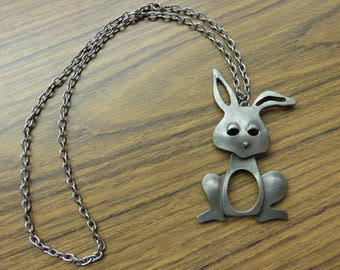 Vintage 1970's Bunny Rabbit Necklace