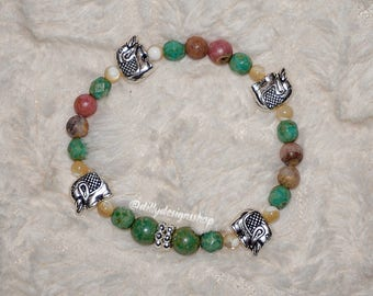 Elephant Earth Toned Bracelet Set