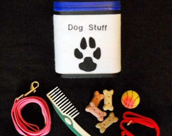 Dog Container For Treats and Accessories   Eco Friendly Recycled Storage Container