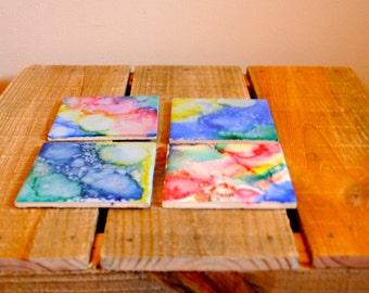 Watercolor Tile Coasters