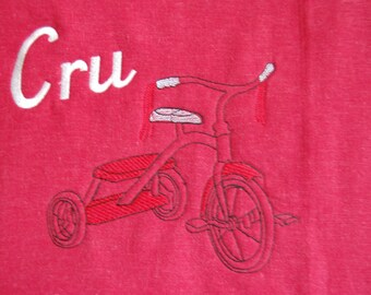 Tricycle Nap Blanket ~ Vintage Inspired ~ Personalized