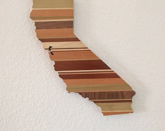State, Province, and Country wall art, wood outline art
