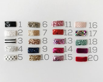 the SNAP clip || MINIS; mini snap clips, glitter snaps, glitter clips, baby clips