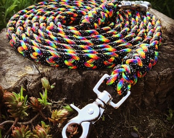 Stunning Paracord Barrel Reins Closed Reins Loop Reins 9ft2in 280cm Galaxy Themed Rainbow Braided Handmade Riding Horse Tack Barrel Racing