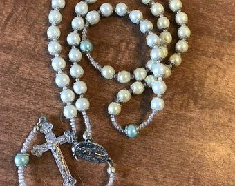 White and Blue Rosary
