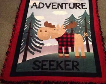 Adventure Seeker fleece tie blanket