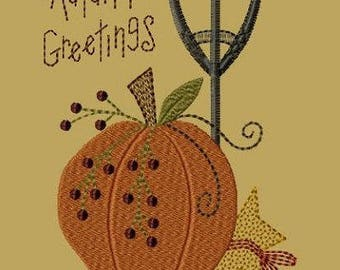 Autumn Greetings-Version 1--5x7-INSTANT DOWNLOAD