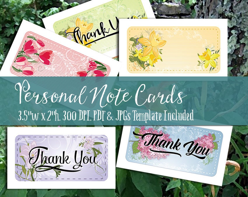 Personal Note Cards And Thank You Notes Printable Pdf And Jpgs