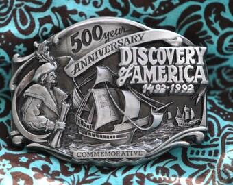 Siskiyou Buckle. Discovery of America 1492-1992 LE #184  1988
