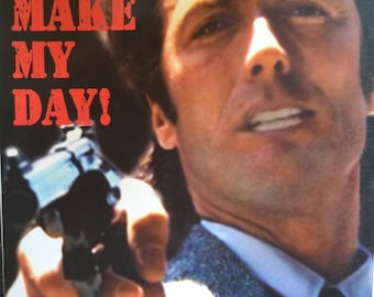 "Dirty Harry Clint Eastwood ""Make My Day"" 24 X 36 out if print rare Anabas poster print"