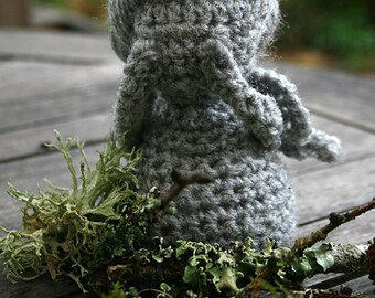Weeping Angel Inspired Hand Crocheted Figure  HH222