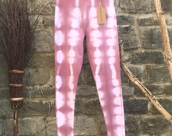 Size 10 LEGGINGS hand dyed with cold water dyes.