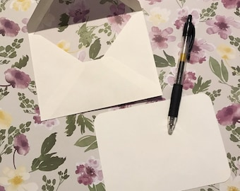 Gray Floral Line Envelopes | Everyday Stationery | Mom Stationery | Snail Mail | Thank You Note | Envelope Sets