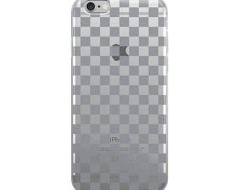 Grey Checkerboard Pattern iPhone Case
