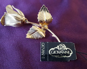 Vintage Giovanni Rose Brooch